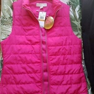 NEW WITH TAGS Michael Kors pink puffer vest NWT